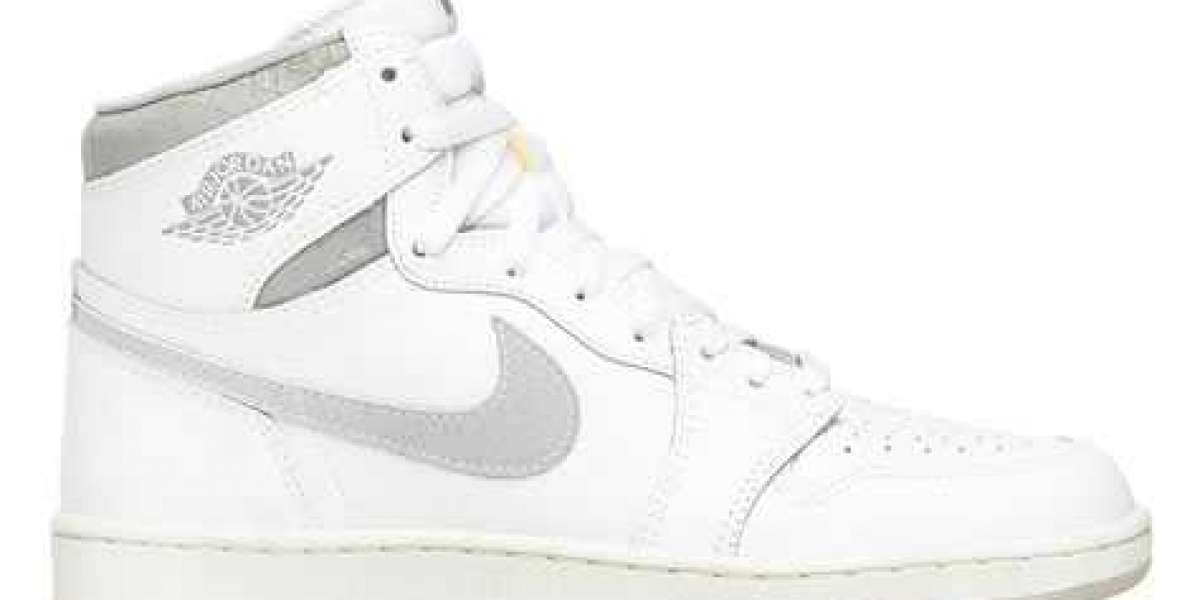 """BQ4422-100 Aj 1 High '85 """"Neutral Grey"""" White/Neutral Grey will be released in spring 2021"""
