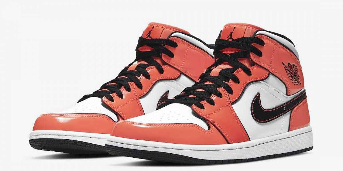 """DD6834-802 Nike Air Jordan 1 Mid """"Turf Orange"""" Basketball Shoes Releasing Soon"""