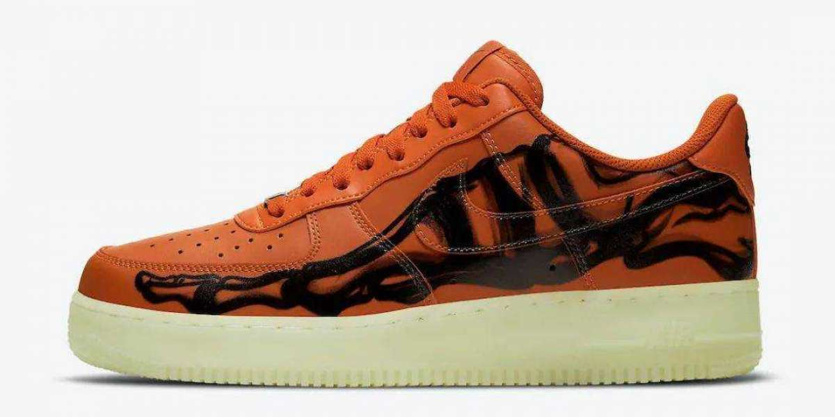 "Where To Buy Nike Air Force 1 ""Orange Skeleton"" Starfish/Starfish-Black CU8067-800"