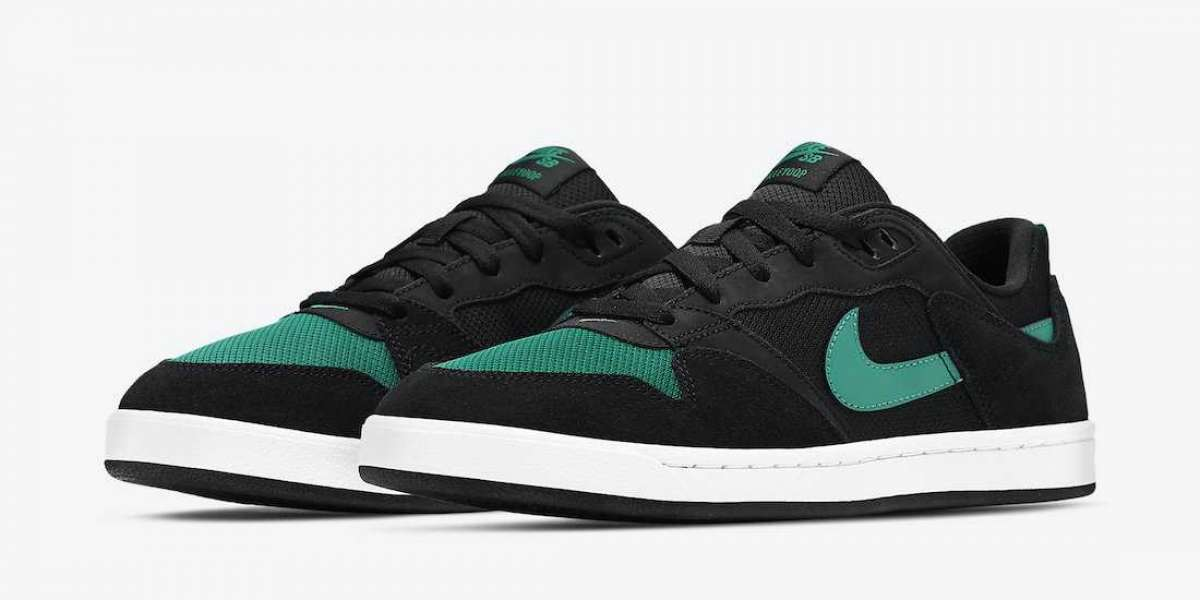 "Brand New Nike SB Alleyoop ""Mysterious Green"" Skate Shoes CJ0882-007"